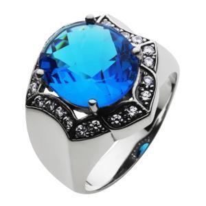 シルバーリング 指輪 メンズ 青 ブルー ストーン シルバー925|e-standard
