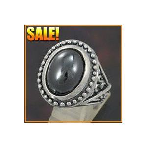 シルバーアクセサリー 指輪メンズ パワーストーンシルバーリング ヘマタイト e-standard