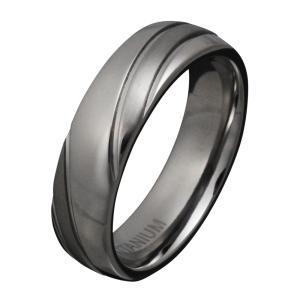 チタンリング メンズ 指輪 シンプル 2トーン アクセサリー|e-standard