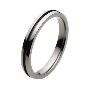 【FIGMART】シンプル ブラックライン チタン リング メンズ【チタンリング チタンアクセサリー】fr4029|e-standard