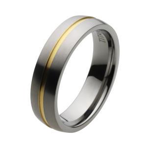 チタンリング 指輪 チタン メンズ シンプル ゴールドライン e-standard