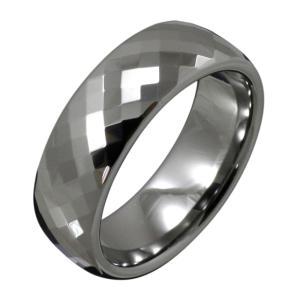 【FIGMART】ダイヤカット タングステン リング メンズ【タングステンリング タングステンアクセサリー】fr8020|e-standard