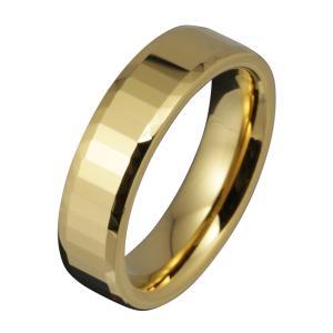 タングステンリング メンズ 指輪 ゴールドカラー ゴージャス シンプル|e-standard
