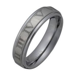 タングステンリング 指輪 ローマ数字 e-standard