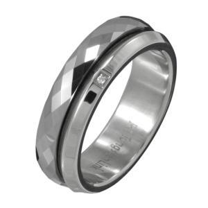 タングステンアクセサリー ステンレス リング 指輪 ジルコニア 重ね着け|e-standard