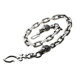 シルバーウォレットチェーン シルバーアクセサリー ライオン fs0123|e-standard