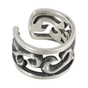 イヤーカフ シルバーイヤーカフス メンズ アラベスク 透かし彫り e-standard