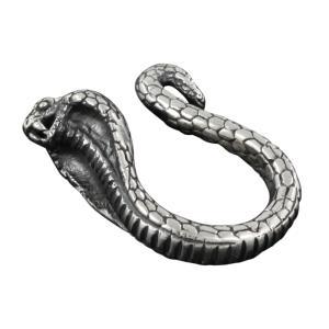 シルバーピアス イヤリング メンズ コブラ 蛇 ヘビ e-standard