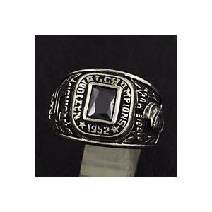 指輪 メンズ ホワイトメタルリング カレッジリング|e-standard