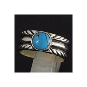 指輪 メンズ ホワイトメタルリング ターコイズ ネイティブアクセ|e-standard