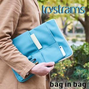 商品名 バッグインバッグ trystrams CASE SERIES GT600 ブルー L トライ...
