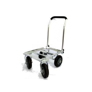 前輪が自在に動くので大変使いやすいです。 アルミ製でサビに強く軽量です。