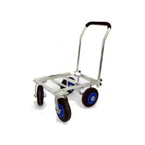 前輪が自在に動くので大変使いやすいです。 アルミ製でサビに強く軽量です。 ノンパンクタイヤなのでパン...