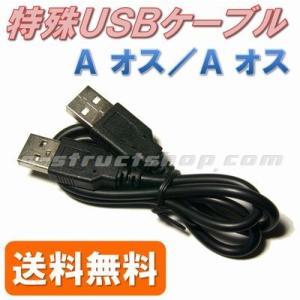 【送料無料】 USBケーブル (Aコネクタ オス - Aコネクタ オス ) 特殊 形状 データ転送 など|e-struct