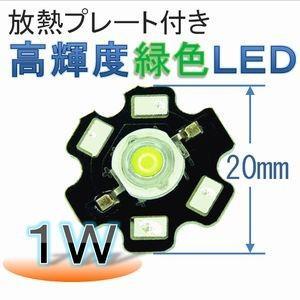放熱プレート付き 高輝度 緑色LED(1W)|e-struct