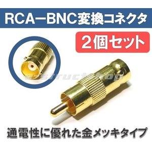 RCA−BNC変換コネクタ (2個セット)