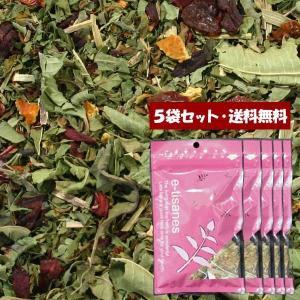 【送料無料】「お肌つるつるシンデレラ」5袋セット  20包 (5包入×5) ティーバッグブレンドハーブティー【単独発送(同梱不可)】|e-tisanes