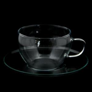 ロングセラーのハーブティー用カップ【セレック/ガラスカップ&ソーサー GCS-1(クリアー)】|e-tisanes
