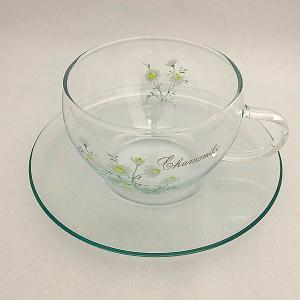 ロングセラーのハーブティー用カップ【セレック/ガラスカップ&ソーサー GCS-1 カモマイル】|e-tisanes