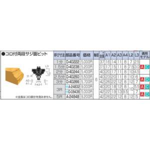 マキタ(makita) 純正 トリマービット コロ付両段サジ面ビット 1分 D-40222|e-tool-shopping