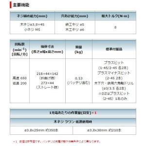 マキタ 7.2V 充電式ペンドライバドリル DF012DZB 本体のみ 黒|e-tool-shopping|06