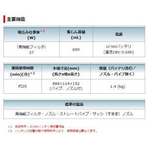 マキタ 18V 充電式クリーナー CL180FDRF 3Ah 電池+充電器+本体 セット 青 クリーナ コードレス 掃除機|e-tool-shopping|06