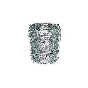 100M巻き 鬼針金 有刺鉄線♯14×100M ステープル付きバラ線ワイヤー|e-tool-shopping
