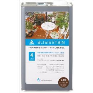 木用で、さらにUVカット剤配合 アリシスステイン ウォールナット 4L 防蟻 防腐|e-tool-shopping
