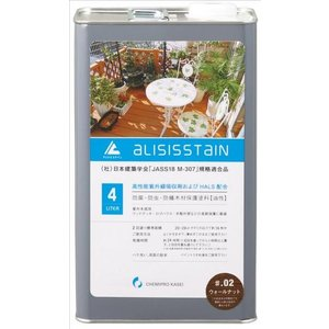 木用で、さらにUVカット剤配合 アリシスステイン バリサンダー 4L 防蟻 防腐|e-tool-shopping