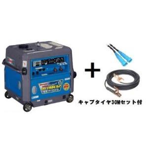 デンヨー 小型ガソリンエンジン溶接・発電機 GAW-190ES2 溶接機 キャプタイヤコード 30m セット付 e-tool-shopping