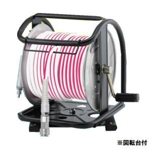 フジマック(fujimach) 高圧用ホースドラム ホース30m付 回転台付 S19-630TC 白/ピンク e-tool-shopping