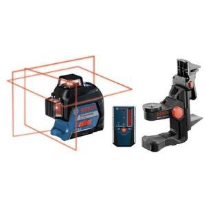ボッシュ(BOSCH) レーザー墨出し器 GLL3-80KIT ウォールマウント(BM1/N) + 受光器(LR6) + 受光器ホルダー付属|e-tool-shopping