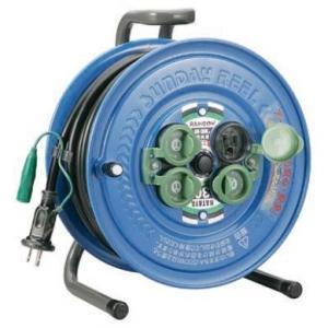 アース付 ハタヤ 30m コードリール 防雨型 電工ドラム SG-30K|e-tool-shopping