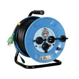日動 電工ドラム 防雨屋外型 アース漏電しゃ断器付 30M NPW-EB33 ブレーカー付きコードリール|e-tool-shopping