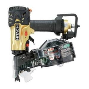 送料無料 (沖縄、離島除く)日立 高圧ロール釘打機 NV50HMCゴールド  |e-tool-shopping