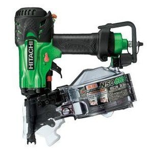 送料無料 (沖縄、離島除く)日立 高圧ロール釘打機 NV50HMC メタリックグリーン(L) |e-tool-shopping