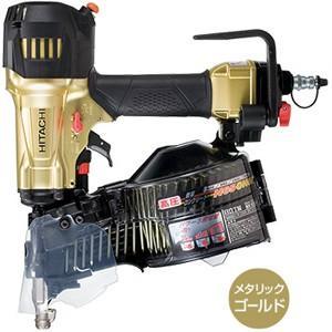 送料無料 (沖縄、離島除く)日立 65mm 高圧ロール釘打機〔ケース付〕パワー切替機構搭載  NV65HR メタリックゴールド|e-tool-shopping