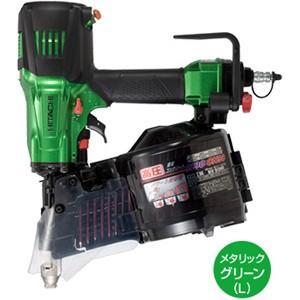 送料無料 (沖縄、離島除く)日立 高圧ロール釘打機 NV90HR(L) メタリックグリーン 90mm|e-tool-shopping