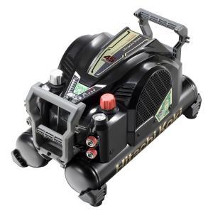 送料無料 (沖縄、離島除く)日立工機 釘打機用エアコンプレッサ タンク容量12L 高圧/一般圧対応 ブラック&ゴールド EC1445H2|e-tool-shopping