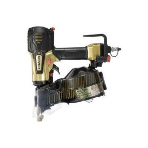 送料無料(但し、沖縄、離島を除く) 日立工機 65mm 高圧ロール釘打機 NV65HR(S) メタリックゴールド|e-tool-shopping