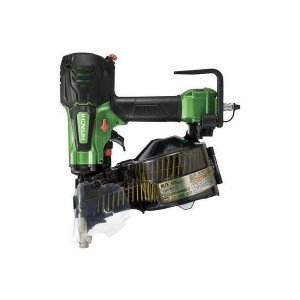 送料無料 (沖縄、離島除く)日立工機 高圧ロール釘打機 メタリックグリーン 針金38~65mm シート32~50mm 品確法・2×4対応 NV65HR(NL)|e-tool-shopping
