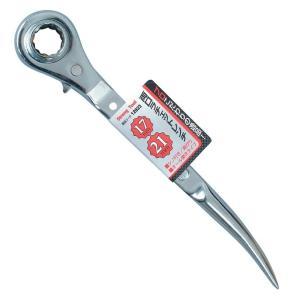 ストロングツール(Strong TooL) 両口ラチェットレンチ 17×21 オール磨きタイプ 12823 ミツトモ 17mm 21mm|e-tool-shopping