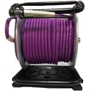 フジマック 高圧用 エアードラム 6.0mm×30m W17MD-630TC 釘打機 パープル 限定色 マッハ W17MD-630Tの回転台付き|e-tool-shopping