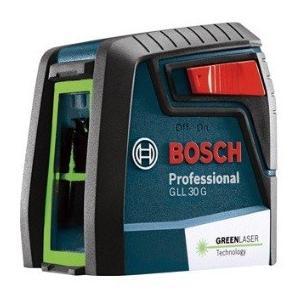 ボッシュ(BOSCH) クロスラインレーザー GLL30G キャリングケース付 グリーン ダイレクトグリーンレーザー採用 水平・垂直|e-tool-shopping