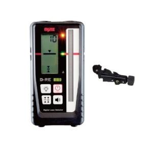 マイゾックス 測量機 レーザーレベル用デジタル受光器 D-RE 自動整準レーザーレベルMJ300対応 クランプD-RC付|e-tool-shopping