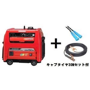 在庫有り!送料無料!(沖縄、離島・北海道除く)新ダイワ(やまびこ) エンジン発電 溶接機 EGW190M-I 30mキャプタイヤコード付 ウエルダー |e-tool-shopping