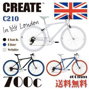 CREATE bikes  CREATE-C210 クリエイトバイク クロスバイク 700c 6段変速 スポーツ おすすめ自転車 人気クロスバイク  おしゃれ|e-topone