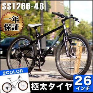 クロスバイク 26インチ シマノ6段変速ギア スポーツ おすすめMTB風クロスバイク SST266-48- TOPONEトップワン|e-topone