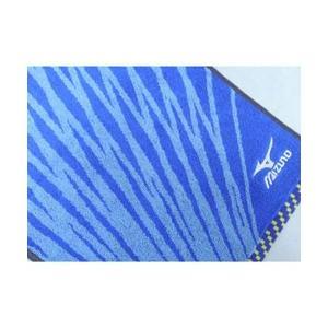 スポーツタオル ミズノ  ブルー ジャガード&刺繍(34×1...