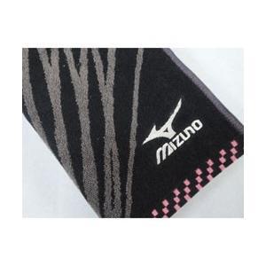 スポーツタオル ミズノ  ブラック ジャガード&刺繍(34×...